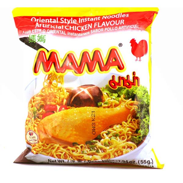 Mama Instant Nudelsuppe Hühnchen Geschmack