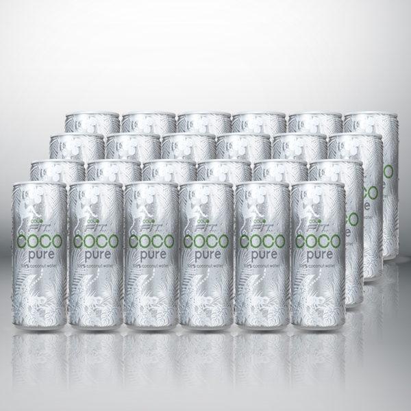 cocofit pure 100% Kokosnusswasser in Dose Karton