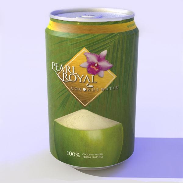 Pearl Royal Kokoswasser in Dose