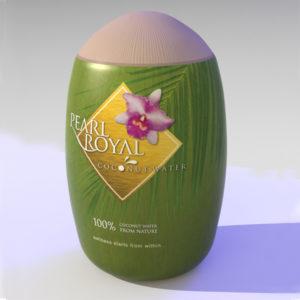 Pearl Royal Kokoswasser in Kokos-Outfit